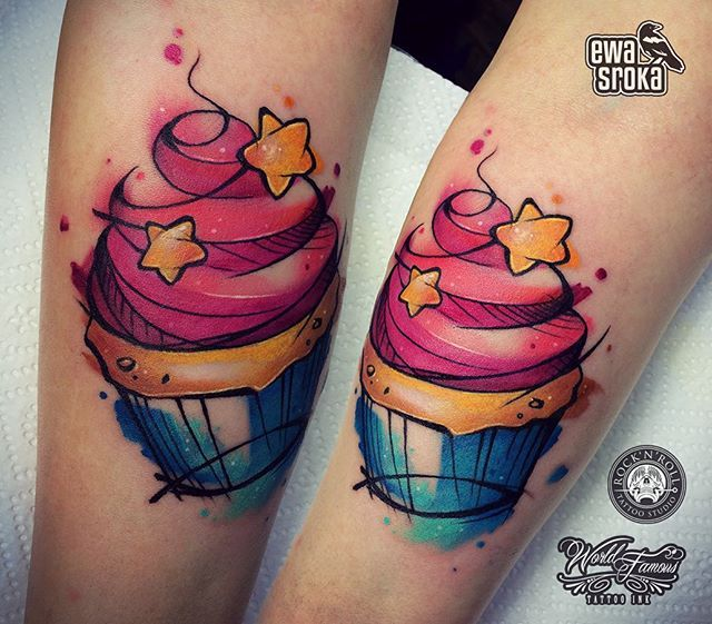 Ewa Sroka Cupcake Tattoo Tattoosss Cupcake Tattoo