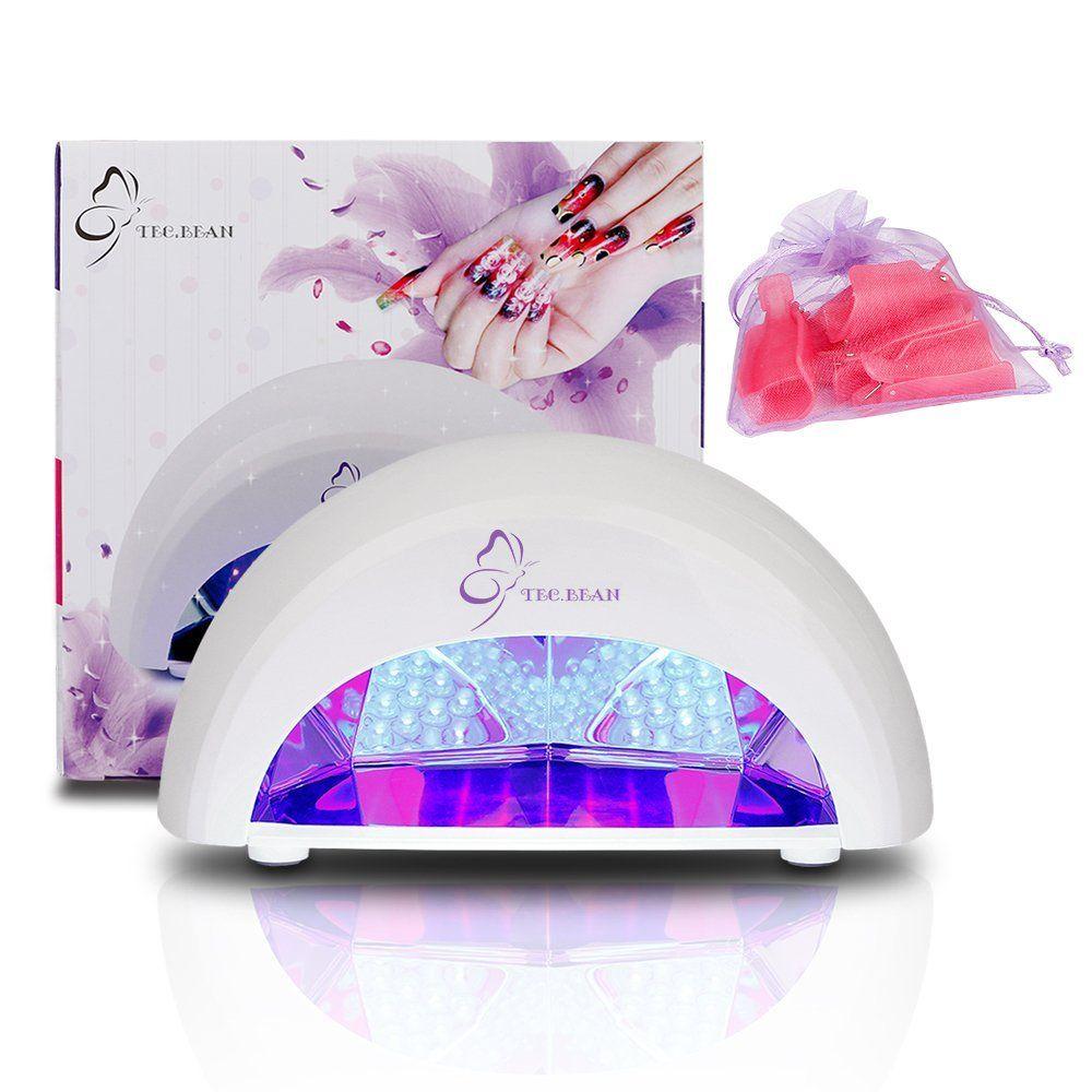 Secador de esmalte de uñas de 12W Lámpara LED de manicura con 4 ...