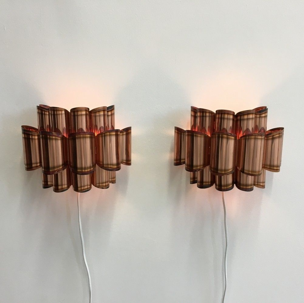 Pair of Danish Mid- Century Copper Wall Lights by Verner Schou