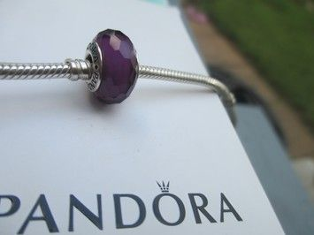8f51450a4 Authentic Pandora Silver Fascinating Purple Murano Glass Bead #791071. Get  the lowest price on Authentic Pandora Silver Fascinating Purple Murano  Glass Bead ...