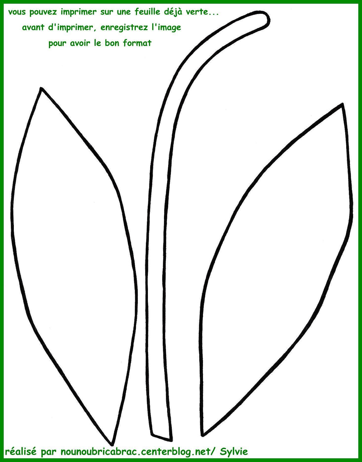 Brin de Muguet feuilles et tige  découper