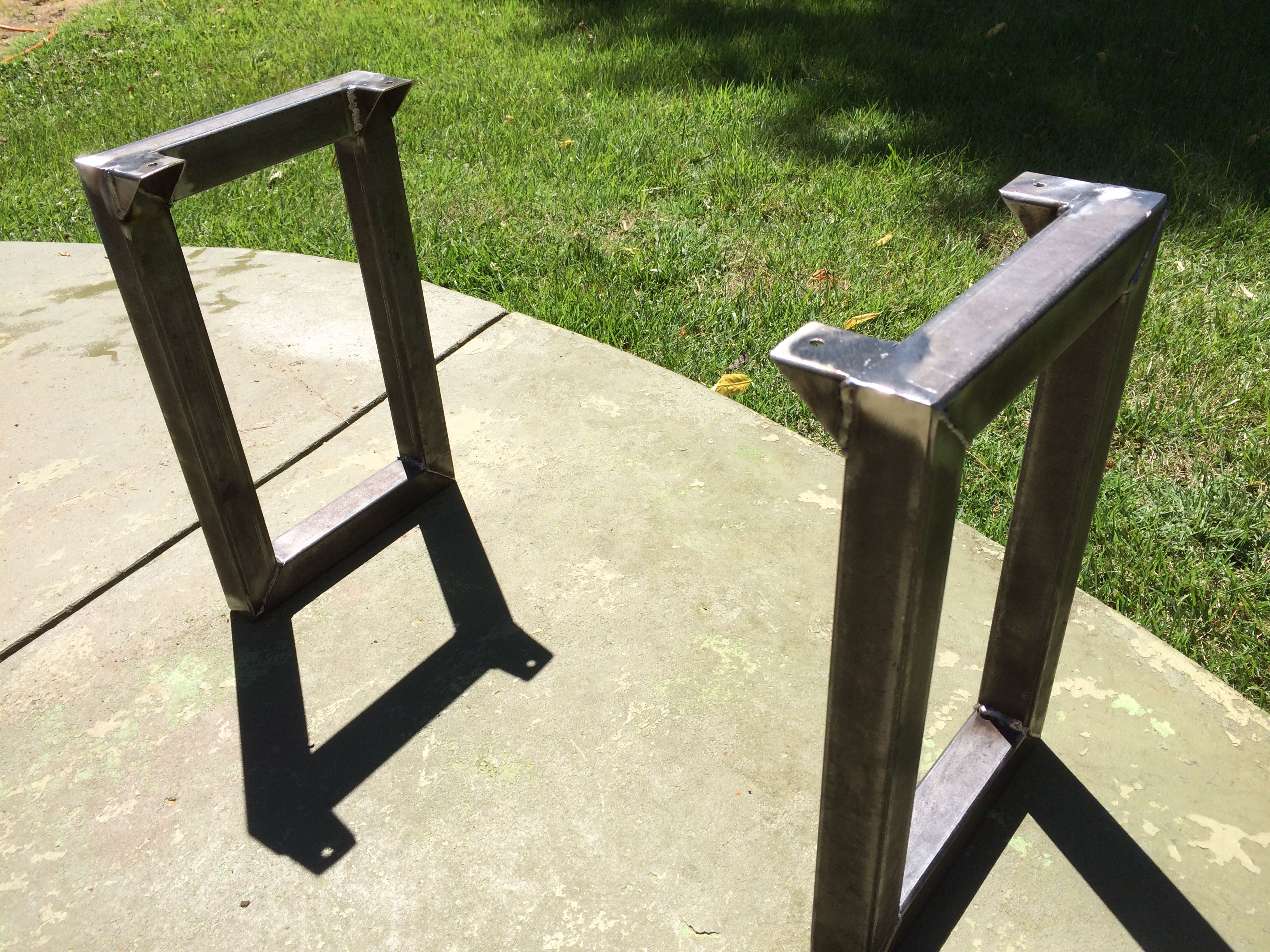 Metal Bench Legs Just Add Your Own 2X10 Or 2X12