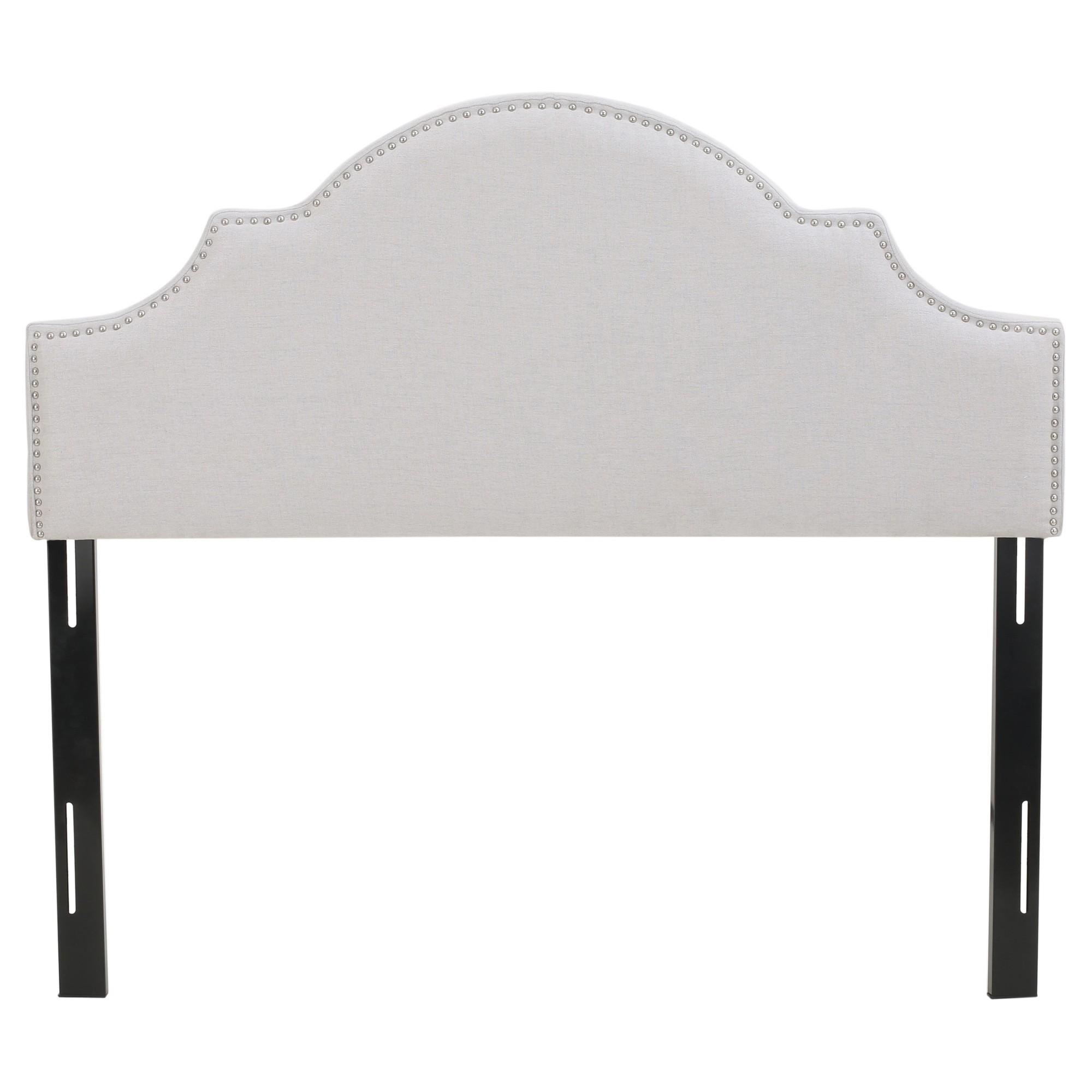 Best Nora Upholstered Headboard Full Queen Light Gray 400 x 300