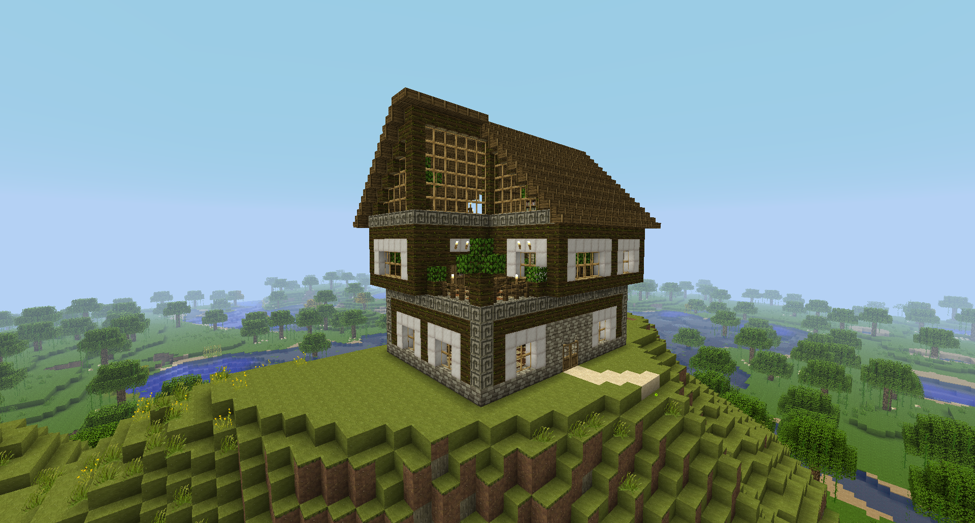 Minecraft House Design Wood Rumah Joglo Limasan Work