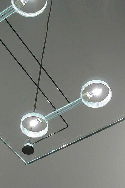 Square suspended halogen light fixture - D42 SOSPESA by Paolo De Lucchi - FABBIAN ILLUMINAZIONE