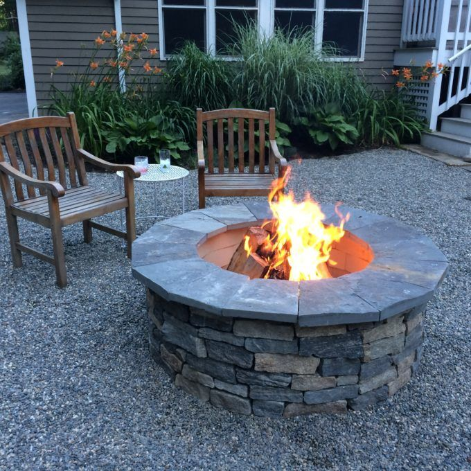 Installing A Diy Capstone To A Firepit Fire Pit Landscaping Stone Backyard Patio Plans