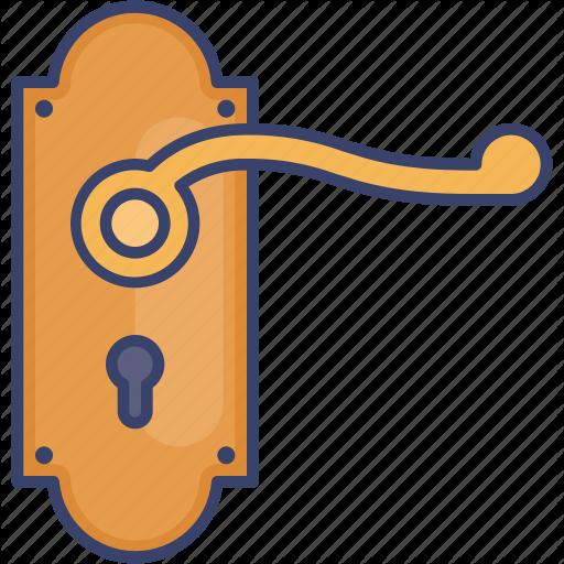 Door Estate Handle Interior Keyhole Real Icon Download On Iconfinder Business Icons Design Icon Design Icon