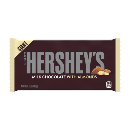 Hershey S Milk Chocolate With Almonds Giant Candy Bar 6 8 Oz Walmart Com In 2021 Giant Candy Bars Chocolate Milk Hershey Chocolate Bar