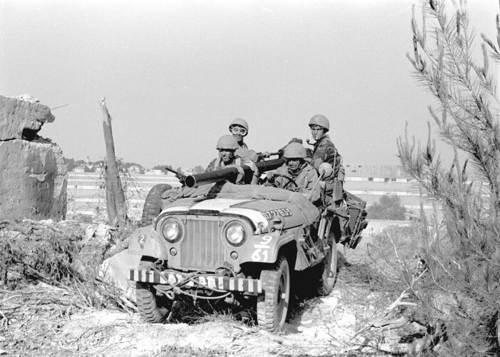 Israeli Jeep with recoilless gun during Six Day War