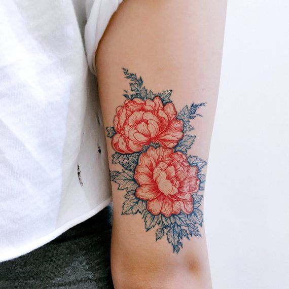Fun tattoo Old Hong Kong Gift Vintage Dragon Tirger Tattoo Peony Flower Tattoo Sweet Tattoos Candies -   22 flower bird tattoo ideas