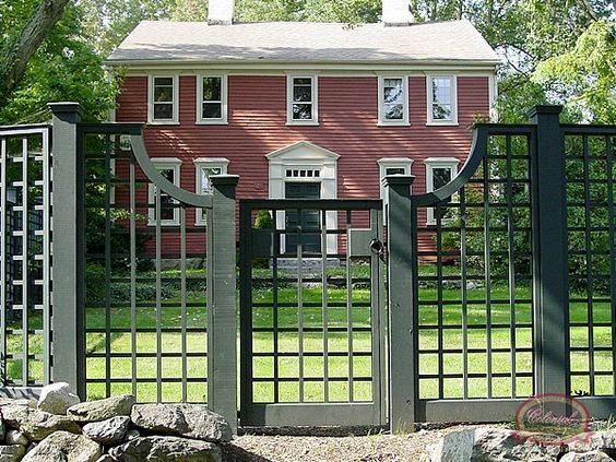 Wood Fence Custom Specialties Colonial Co Norfolk Ma Gates