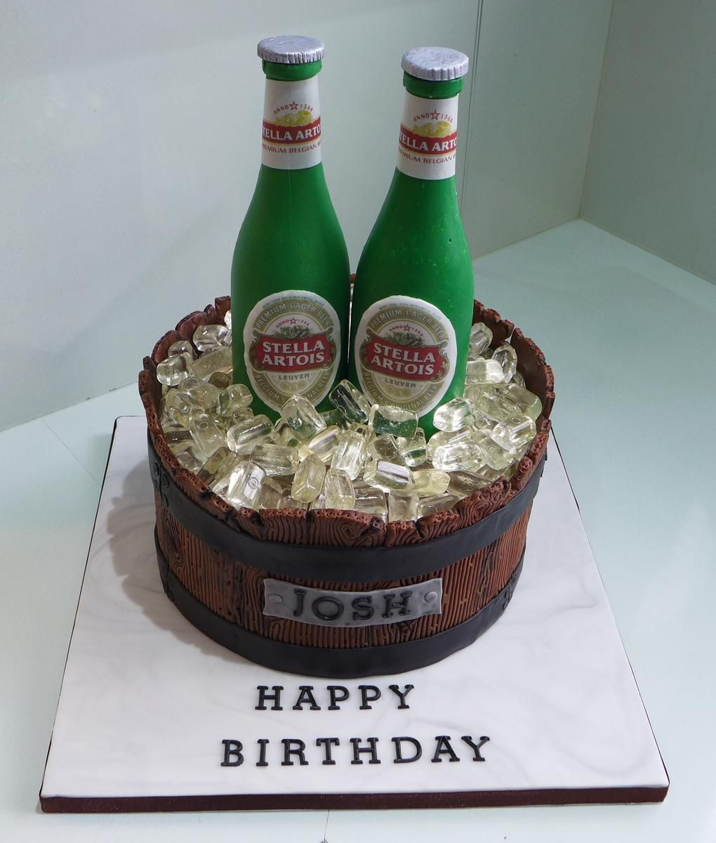 Astonishing Chocolate Beer Bottle Birthday Cake With Images Chocolate Personalised Birthday Cards Epsylily Jamesorg