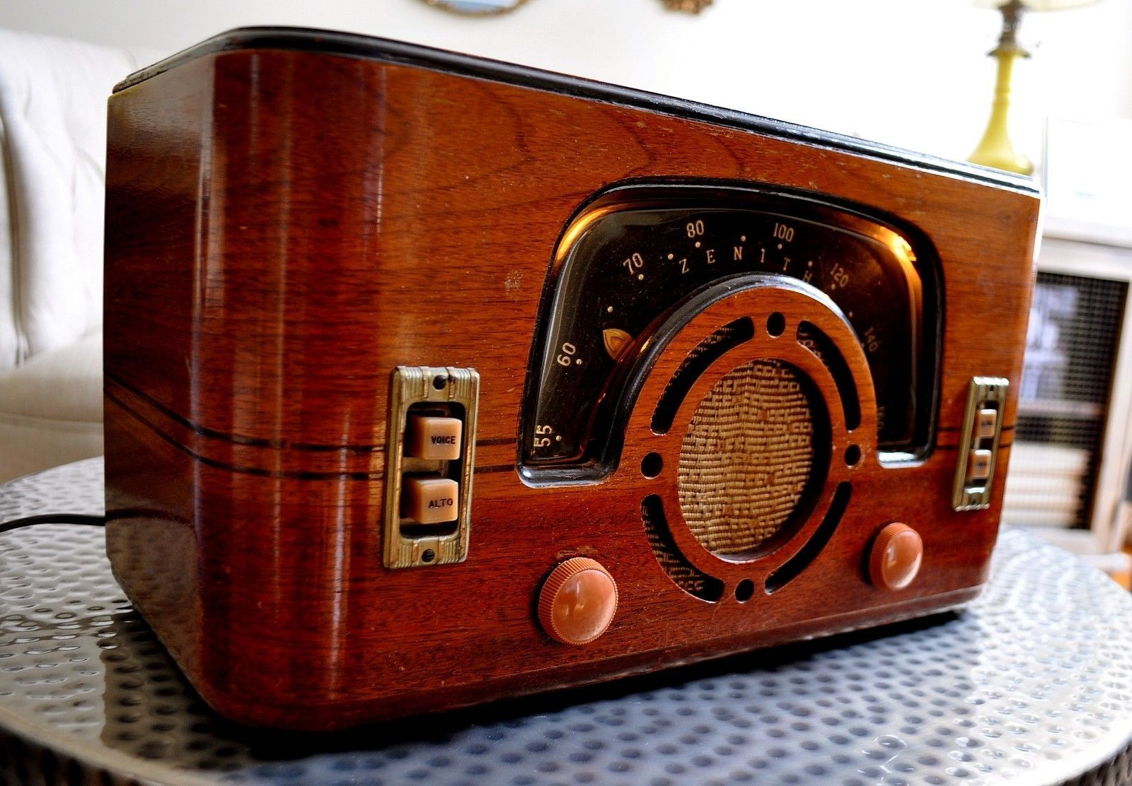 Restored Antique Vintage Zenith 6d630 Art Deco Old Tube Radio Works Perfect Antieke Radio Radio S Jukeboxen