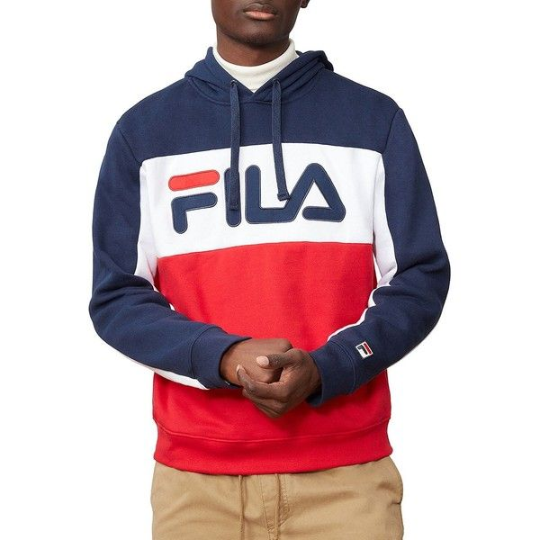 30f45874a0955 Fila Men's Todd Striped Hoodie ($65) ❤ liked on Polyvore featuring men's  fashion,