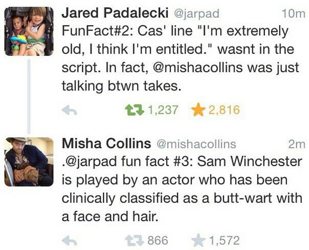 Misha Collins Jared Padalecki