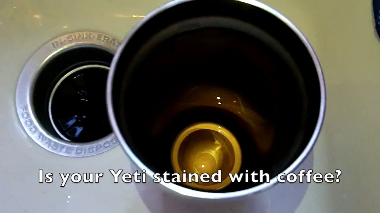 How To Clean Coffee Stains Out Of A Yeti Tumbler Clean Coffee Stain Coffee Staining Coffee Stain Removal