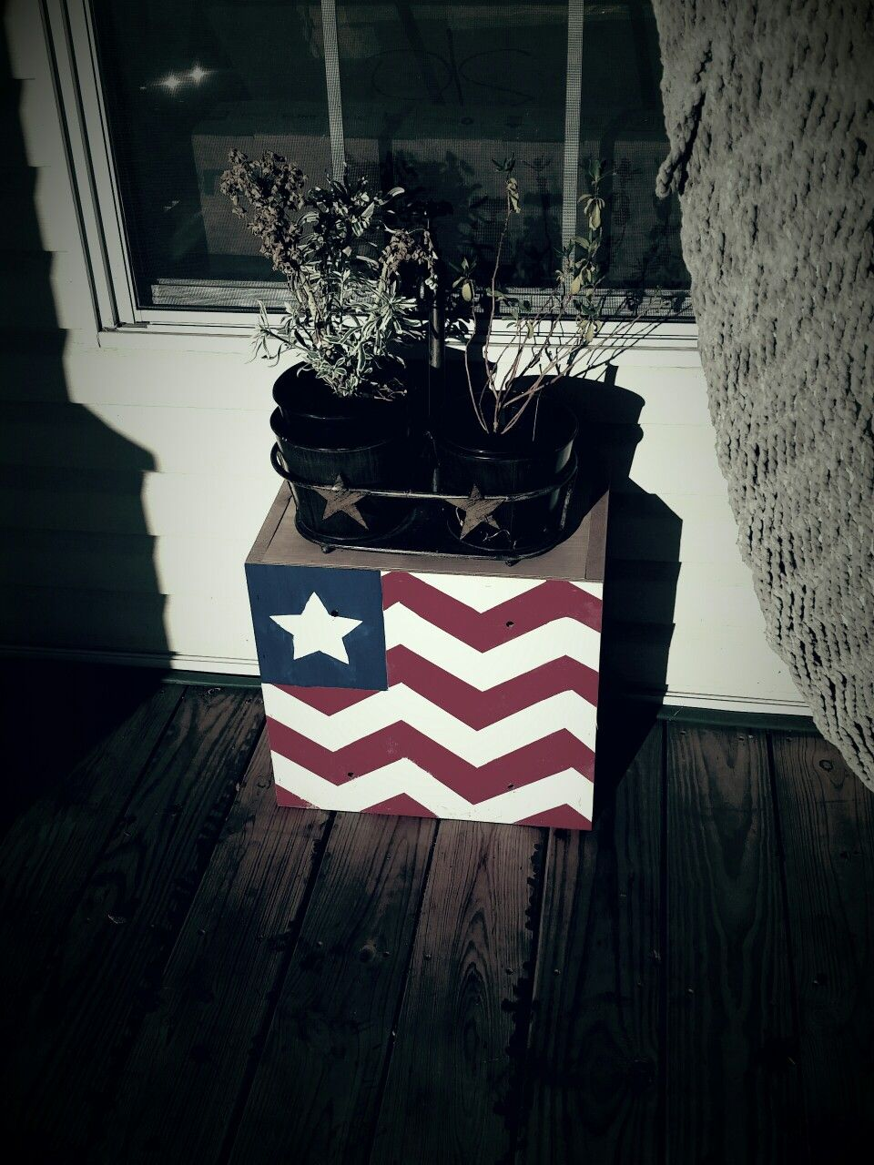 Hand painted plant stand