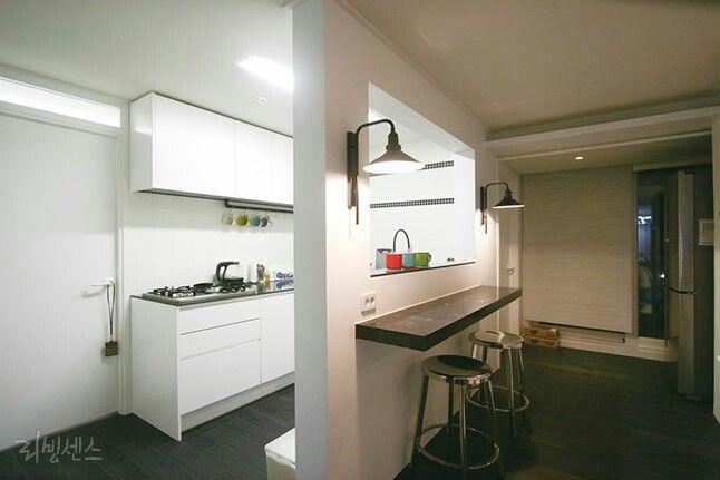 가벽, 인테리어, 주방  인테리어  Pinterest  부엌, 리모델링 및 홈 ...