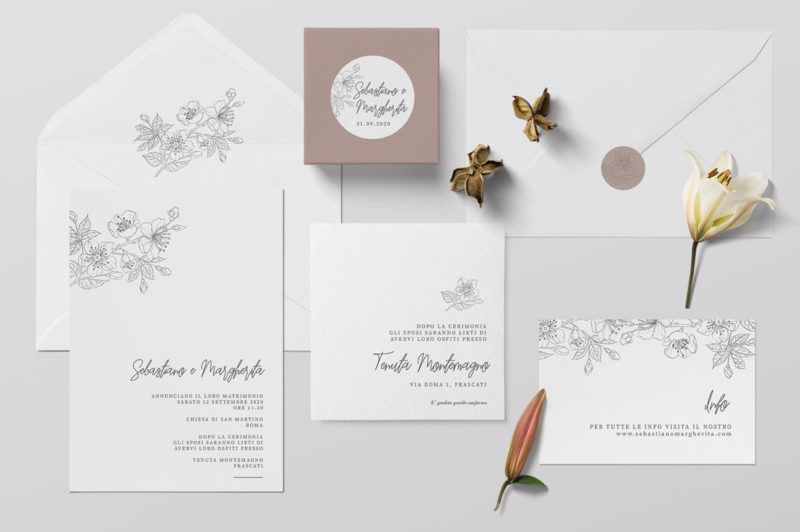Inviti Nozze Partecipazioni Wedding Invitation Wedding Suite Stationery Minimal Elegante Floreal Inviti Per Matrimonio Matrimonio Minimalista Matrimonio