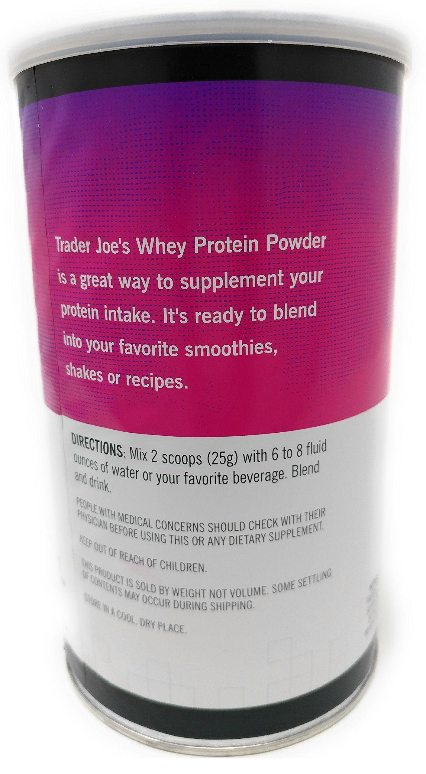 Trader Joes Whey Protein Powder Dietary Supplement Vanilla