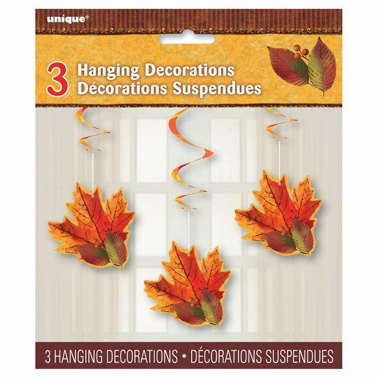 Hanging Fall Beauty Decorations, 3ct