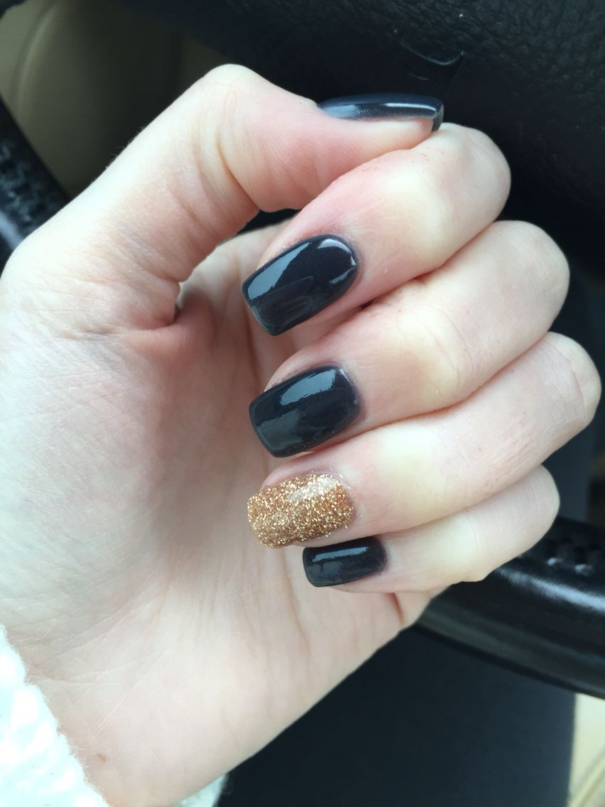 Nexgen, blue and gold. Fall nails | nexgennails | Pinterest | Nail ...