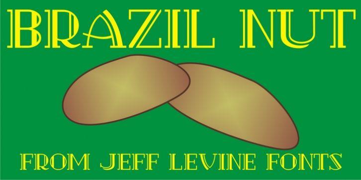Brazil Nut JNL font download