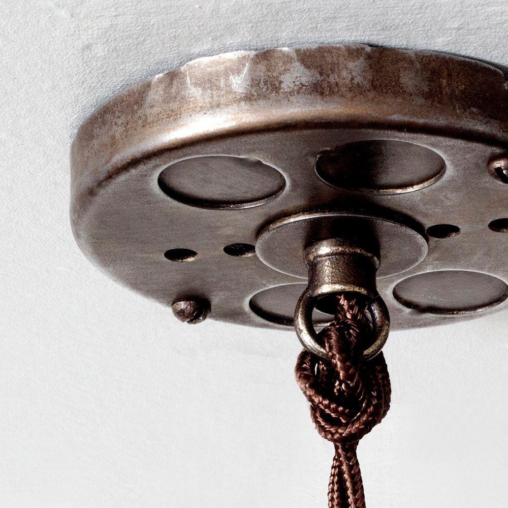 Ceiling canopy kit antique brass pendant light hardwire
