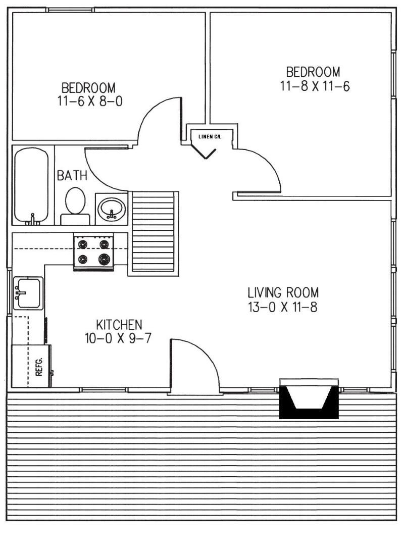 Small Log Cabin Floor Plans | The cabin will have full laundry ...