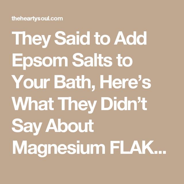 The 25+ best Magnesium flakes ideas on Pinterest