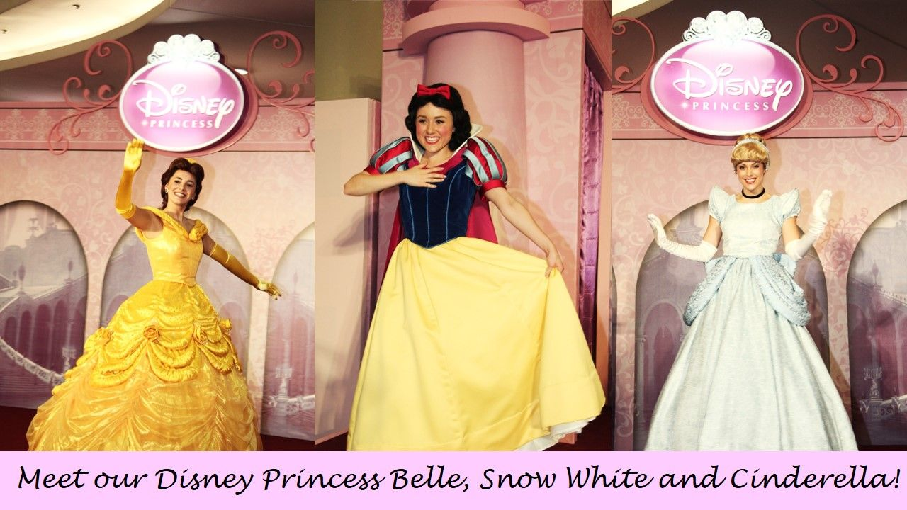 Meet And Greet With Disney Princess Belle Snow White And Cinderella