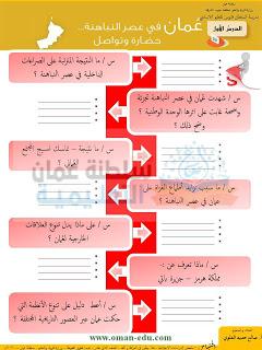 اسئلة وتدريبات على درس عمان في عصر النباهنة Blog Posts Blog Bullet Journal