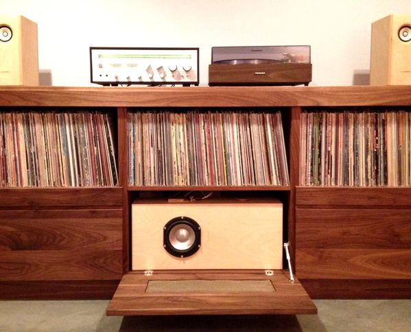 vinyl record cabinet custom record stereo cabinet by trey jones via behance 28012