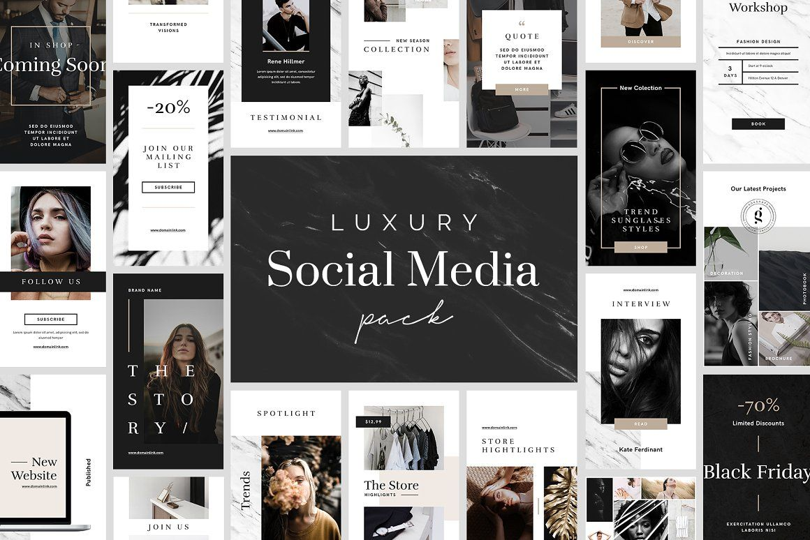 Luxury Instagram Stories Pack #Luxury, #Luxurious, #Deluxe, #Fancy
