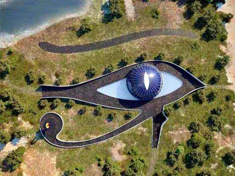 Naomi Campbells House, The Eye of Horu By Luis de Garrido