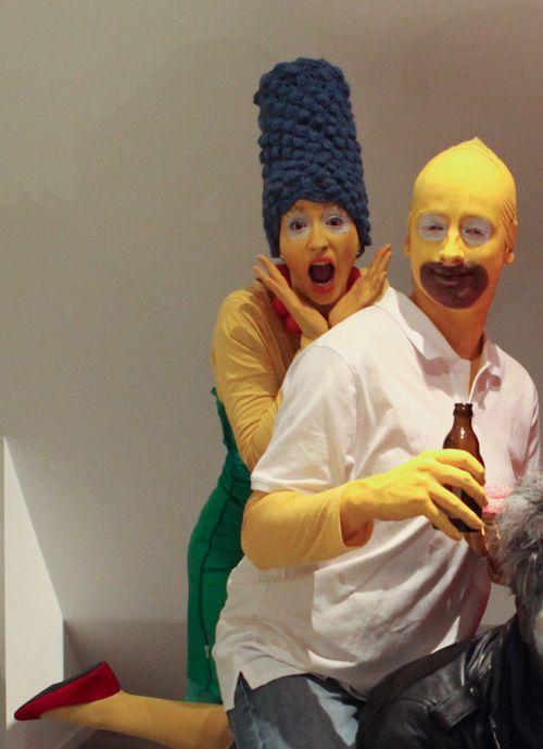 D guisement de couple marge et homer simpson d guisements makeup pinterest deguisement - Marge simpson et bart ...