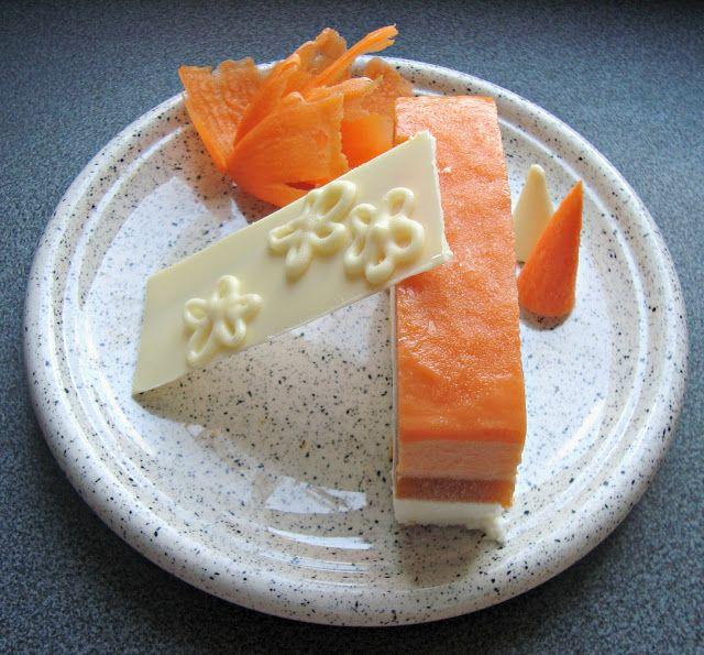 β-Carotene Frozen Mousse Cake! craftmarmalade.blogspot.com