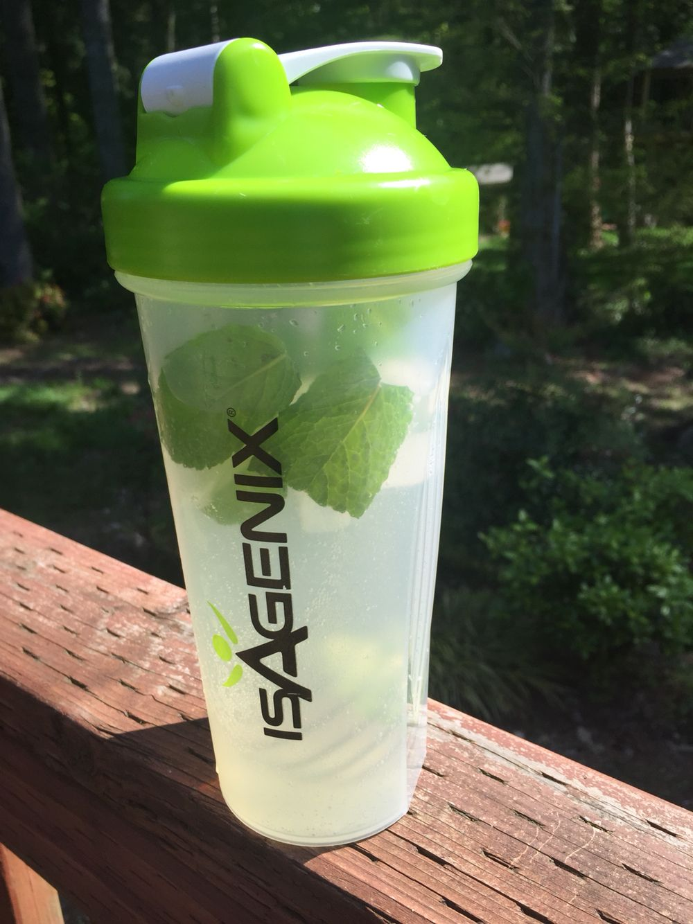 Summer Refresh! Mint leaves, water and a little lemon lime