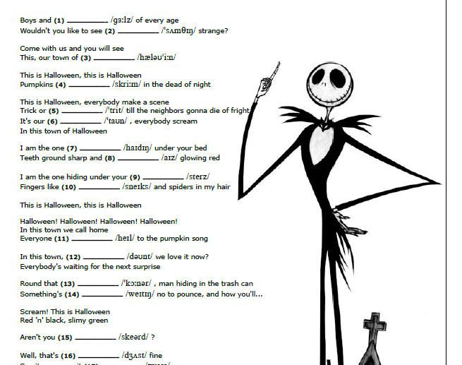 Songs and Phonetics This is Halloween worksheet on busyteacher