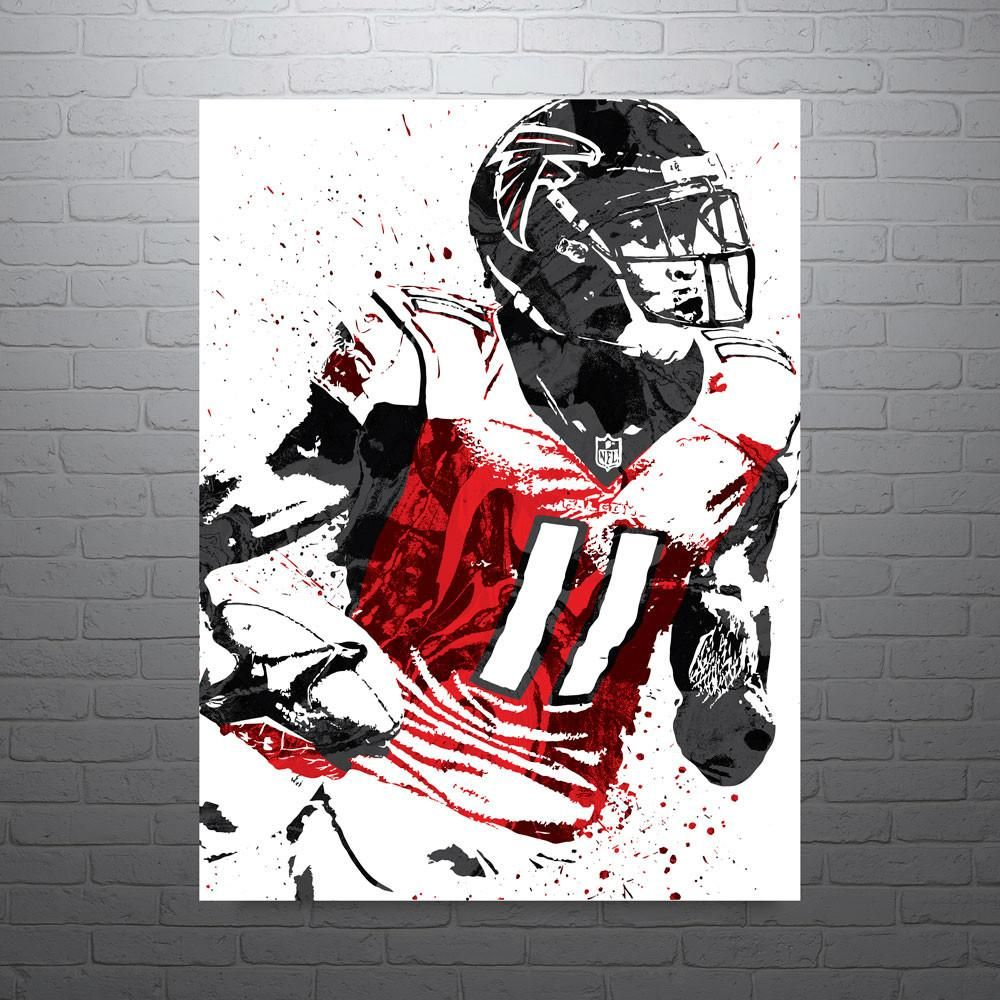 Julio Jones Atlanta Falcons Poster Atlanta Falcons Poster Atlanta Falcons Art Atlanta Falcons