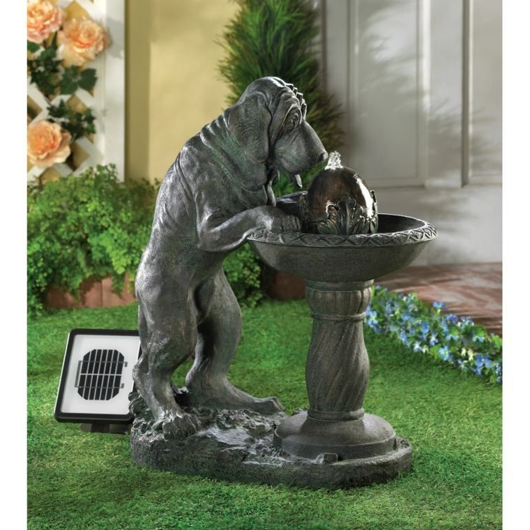 Fontaine Chien Solar Water Fountain Solar Fountain Water Fountains Outdoor