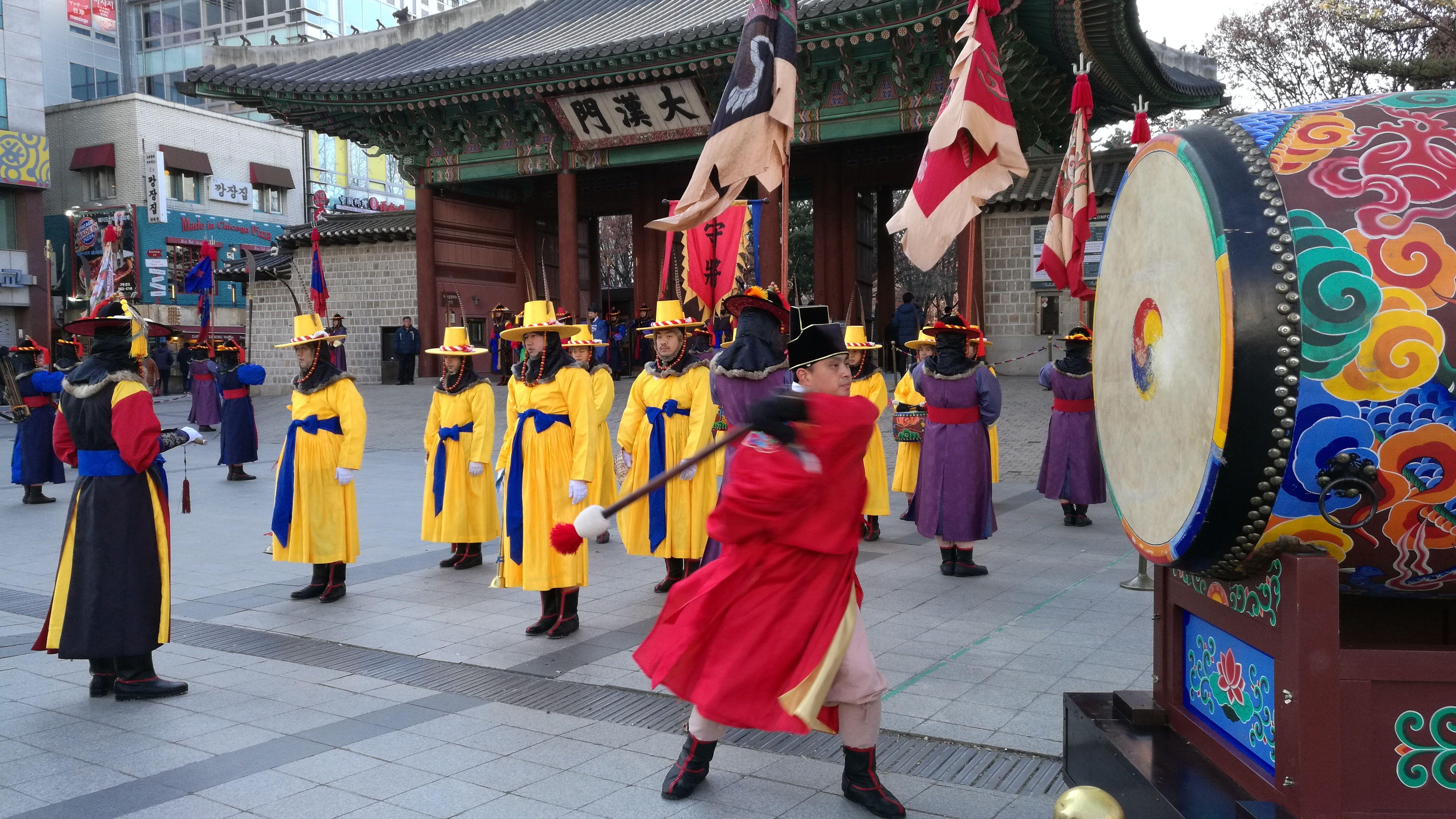 Cambio de guardia en el Palacio Imperial