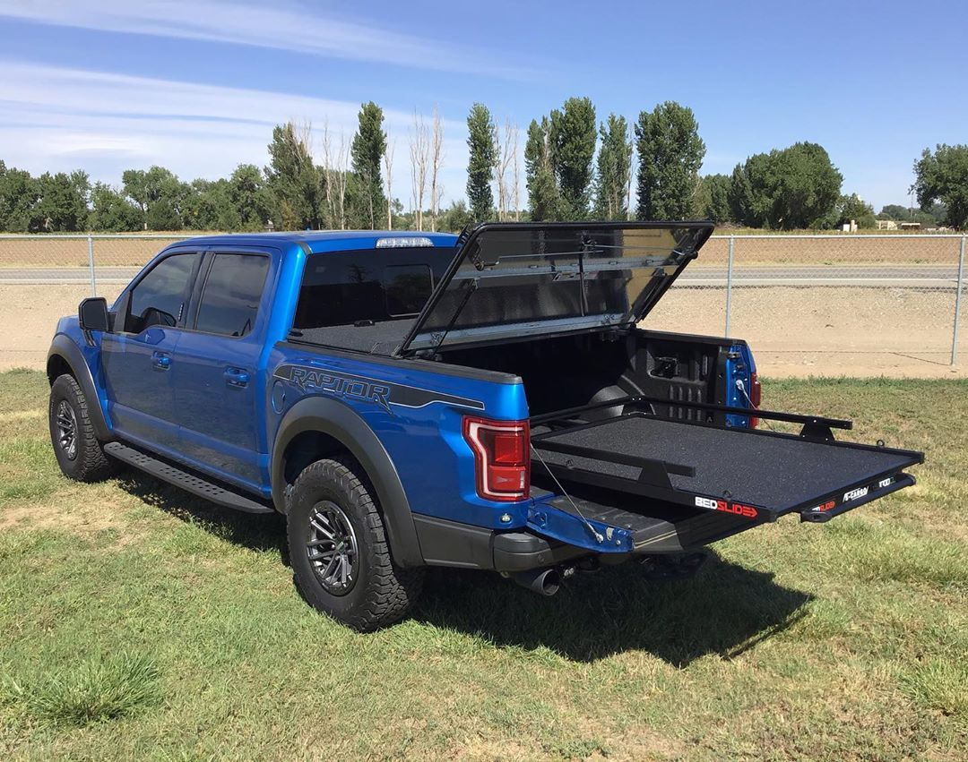 Bedslide 1000 Classic Black Edition In A Ford Raptor Truck Caps Black Edition Raptor