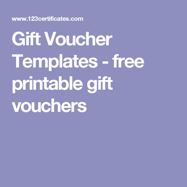 Gift Voucher Templates  Free Printable Gift Vouchers  Great