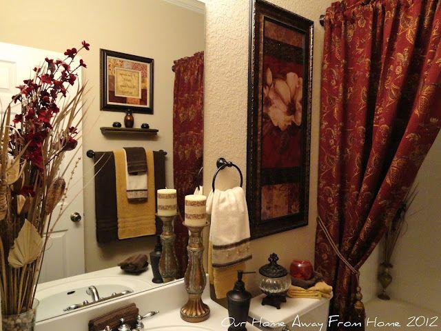 Shower Curtain My Colors Love It Tuscan Bathroom Decor