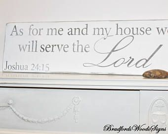 As For Me And My House Sign | Joshua 24 | Scripture Wall Art | Rustic
