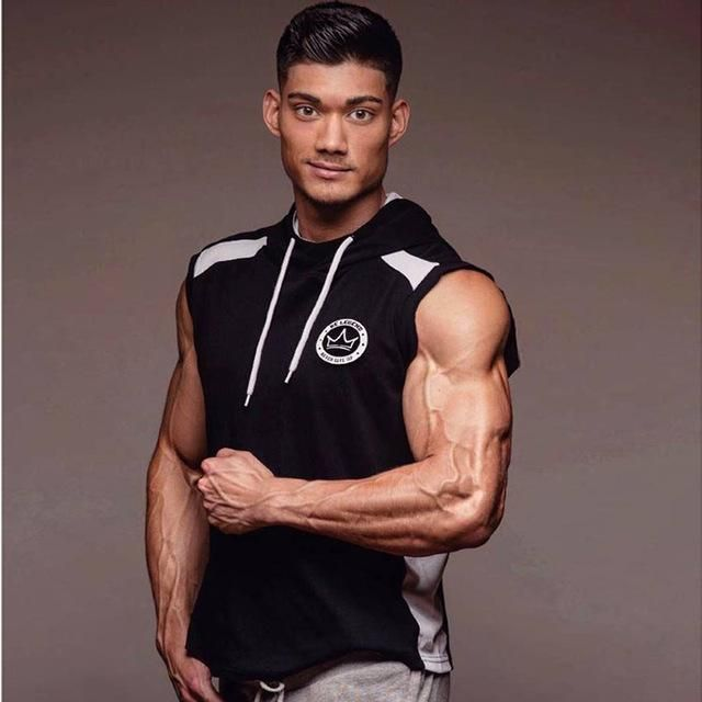 SJ 2017 Fitness Men Bodybuilding Sleeveless Muscle Hoodies Workout Clothes Casual Cotton Tops Hooded Tank Tops 2 Color is part of Workout Clothes Casual - Gender Men Item Type Hoodies,Sweatshirts Type Slim Hooded Yes Model Number hoodies Brand Name SJ Sleeve Style Regular Closure Type None Clothing Length Regular Thickness Standard Collar ONeck Detachable Part None Pattern Type Geometric Material Polyester,Cotton Sleeve Length(cm) Sleeveless Style Casual Decoration mens warm vest Fabric type chalecos hombre 2015 Height vest with many pockets Material men vest Describe brand clothing