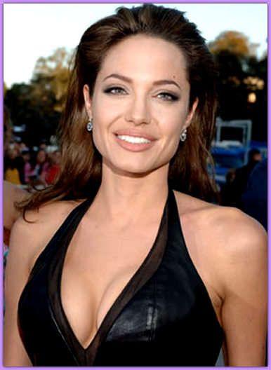Angelina jolie boob size