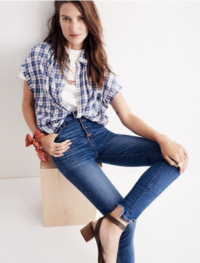 I always have a hard time figuring out which jean will look decent on me. Maybe these? Women's Denim : Skinny, Straight, & Slim Jeans | Madewell