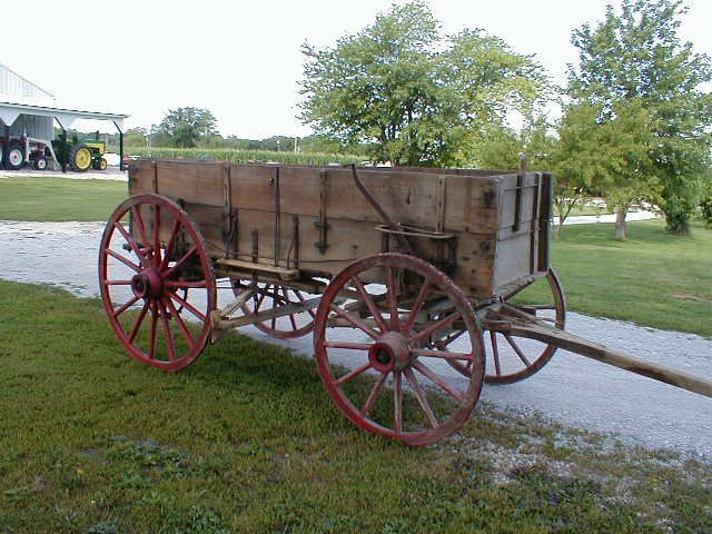 Old Wagon Gears : Antique wooden wagon with spoke wheels for sale